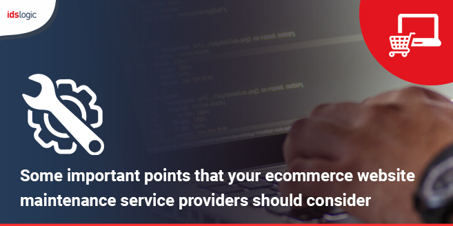 Some Important Points that Your Ecommerce Website Maintenance Service Providers Should Consider
